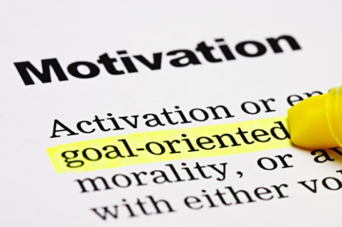 Under the heading ' Motivation', a marker highlights 'goal-oriented'